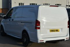 MERCEDES VITO 111 SPORT WIDE ARCH KIT STYLE WHITE VAN TAIL GATE LOW MILES VAN RARE - 2180 - 4