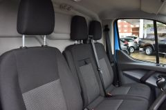 FORD TRANSIT CUSTOM 330 L2 H2 LWB HIGH ROOF BLUE VAN WITH TWIN SIDE DOORS  - 1809 - 9
