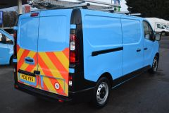 VAUXHALL VIVARO 2900 L2 H1 LWB BRITISH GASBLUE VAN TWIN SIDE DOORS SHELVING - 2764 - 6