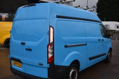 FORD TRANSIT CUSTOM 330 L2 H2 LWB HIGH ROOF TWIN SIDE DOOR AIR CON SHELVING VAN - 2770 - 6