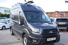FORD TRANSIT 350 LEADER L2 H3 MWB HIGH ROOF GREY RARE VAN SHELVING LADDER RACK ECOBLUE EURO 6 - 2620 - 8