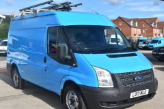 FORD TRANSIT 350 RARE BRITISH GAS 4X4 AWD BLUE VAN SHELVING AIR CON  - 2435 - 7