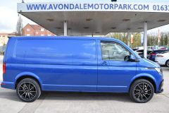 VOLKSWAGEN TRANSPORTER T30 T6.1 2021 LWB 150 BHP BLUE IDEAL CAMPER SPORTLINE STYLED HIGHLINE NOT T5 T6 - 2929 - 6