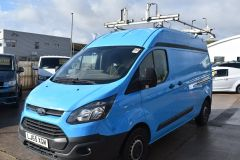 FORD TRANSIT CUSTOM 330 L2 H2 LWB HIGH ROOF VAN BRITISH GAS BLUE VAN - 2585 - 1