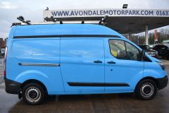 FORD TRANSIT CUSTOM 330 L2 H2 LWB HIGH ROOF TWIN SIDE DOOR AIR CON SHELVING VAN - 2770 - 7