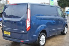 FORD TRANSIT CUSTOM 280 LIMITED AUTOMATIC ECOBLUE EURO 6 BLUE VAN  - 2831 - 5