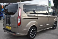 FORD TOURNEO CUSTOM 320 SPORT ECOBLUE DIFFUSED SILVER RARE NO VAT 8 SEATER AUTOMATIC 185 BHP  - 2843 - 5
