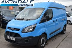 FORD TRANSIT CUSTOM 330 L2 H2 LWB HIGH ROOF BLUE VAN WITH TWIN SIDE DOORS  - 1809 - 1