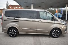FORD TOURNEO CUSTOM 320 SPORT ECOBLUE DIFFUSED SILVER RARE NO VAT 8 SEATER AUTOMATIC 185 BHP  - 2843 - 6