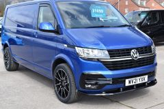 VOLKSWAGEN TRANSPORTER T30 T6.1 2021 LWB 150 BHP BLUE IDEAL CAMPER SPORTLINE STYLED HIGHLINE NOT T5 T6 - 2929 - 7