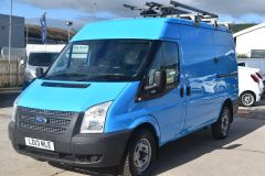 FORD TRANSIT 350 RARE BRITISH GAS 4X4 AWD BLUE VAN SHELVING AIR CON  - 2435 - 1