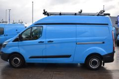 FORD TRANSIT CUSTOM 330 L2 H2 LWB HIGH ROOF TWIN SIDE DOOR AIR CON SHELVING VAN - 2770 - 4