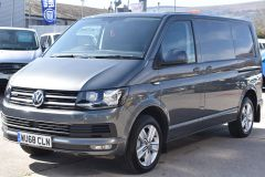 VOLKSWAGEN TRANSPORTER AUTOMATIC DSG T32 T6 204 BHP 4MOTION 4X4 HIGHLINE GREY VAN WITH DIFF LOCK SAT NAV HEATED SEATS - 2248 - 1