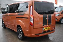FORD TOURNEO CUSTOM 310 SPORT AUTOMATIC MINIBUS 8 SEATER ORANGE NO VAT TO PAY 170 BHP - 2110 - 5