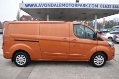 FORD TRANSIT CUSTOM 300 LIMITED 170 BHP L2 LWB TWIN SIDE DOORS NAV ORANGE VAN  ECOBLUE - 2875 - 8