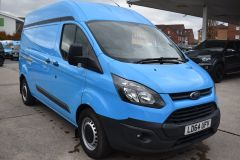FORD TRANSIT CUSTOM 330 L2 H2 LWB HIGH ROOF BLUE VAN WITH TWIN SIDE DOORS  - 1809 - 7
