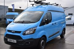 FORD TRANSIT CUSTOM 330 L2 H2 LWB HIGH ROOF TWIN SIDE DOOR AIR CON SHELVING VAN - 2770 - 1