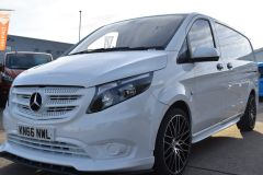 MERCEDES VITO 111 SPORT WIDE ARCH KIT STYLE WHITE VAN TAIL GATE LOW MILES VAN RARE - 2180 - 1