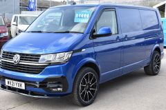 VOLKSWAGEN TRANSPORTER T30 T6.1 2021 LWB 150 BHP BLUE IDEAL CAMPER SPORTLINE STYLED HIGHLINE NOT T5 T6 - 2929 - 1