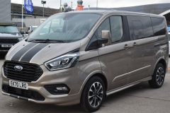 FORD TOURNEO CUSTOM 320 SPORT ECOBLUE DIFFUSED SILVER RARE NO VAT 8 SEATER AUTOMATIC 185 BHP  - 2843 - 1