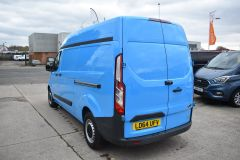 FORD TRANSIT CUSTOM 330 L2 H2 LWB HIGH ROOF BLUE VAN WITH TWIN SIDE DOORS  - 1809 - 4