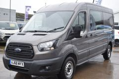 FORD TRANSIT 350 L3 H2 LUNAR SKY GREY LWB EURO 6 SIDE WINDOW VAN IDEAL CAMPER CONVERSION - 2157 - 1