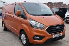 FORD TRANSIT CUSTOM 300 LIMITED 170 BHP L2 LWB TWIN SIDE DOORS NAV ORANGE VAN  ECOBLUE - 2875 - 9