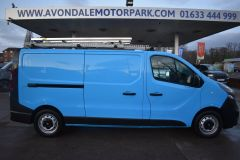 VAUXHALL VIVARO 2900 L2 H1 LWB BRITISH GASBLUE VAN TWIN SIDE DOORS SHELVING - 2764 - 7