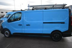 VAUXHALL VIVARO 2900 L2 H1 LWB BRITISH GASBLUE VAN TWIN SIDE DOORS SHELVING - 2764 - 4