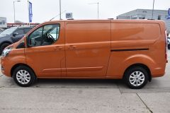 FORD TRANSIT CUSTOM 300 LIMITED 170 BHP L2 LWB TWIN SIDE DOORS NAV ORANGE VAN  ECOBLUE - 2875 - 5
