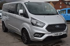 FORD TOURNEO CUSTOM 310 TITANIUM 170 BHP MINIBUS 9 SEATER LWB L2 LEATHER NAV REVERSE CAM - 2228 - 9