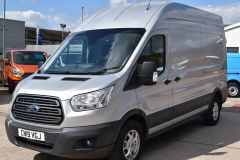 FORD TRANSIT 350 L3 H3 170 BHP LWB HIGH ROOF AIR CON REVERSE CAMERA EURO 6 SILVER VAN  - 2959 - 1