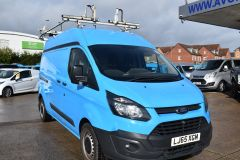 FORD TRANSIT CUSTOM 330 L2 H2 LWB HIGH ROOF VAN BRITISH GAS BLUE VAN - 2585 - 8