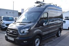 FORD TRANSIT 350 LEADER L2 H3 MWB HIGH ROOF GREY RARE VAN SHELVING LADDER RACK ECOBLUE EURO 6 - 2620 - 1