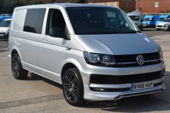 VOLKSWAGEN TRANSPORTER T28 TDI P/V HIGHLINE MODIFIED DAY VAN WITH CARPET AND WINDOWS - 2477 - 1