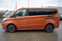 FORD TOURNEO CUSTOM 310 SPORT AUTOMATIC MINIBUS 8 SEATER ORANGE NO VAT TO PAY 170 BHP - 2110 - 4