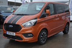 FORD TOURNEO CUSTOM 310 SPORT AUTOMATIC MINIBUS 8 SEATER ORANGE NO VAT TO PAY 170 BHP - 2110 - 1