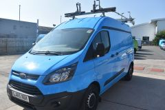 FORD TRANSIT CUSTOM 330 L2 H2 LWB GAS VAN AIR CON TWIN SIDE DOORS - 2552 - 1