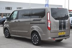 FORD TOURNEO CUSTOM 320 SPORT ECOBLUE DIFFUSED SILVER RARE NO VAT 8 SEATER AUTOMATIC 185 BHP  - 2843 - 4