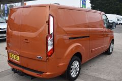 FORD TRANSIT CUSTOM 300 LIMITED 170 BHP L2 LWB TWIN SIDE DOORS NAV ORANGE VAN  ECOBLUE - 2875 - 7
