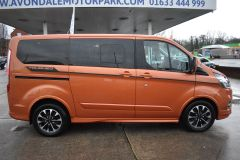 FORD TOURNEO CUSTOM 310 SPORT AUTOMATIC MINIBUS 8 SEATER ORANGE NO VAT TO PAY 170 BHP - 2110 - 7