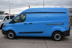 FORD TRANSIT CUSTOM 330 L2 H2 LWB HIGH ROOF BLUE VAN WITH TWIN SIDE DOORS  - 1809 - 3