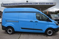 FORD TRANSIT CUSTOM 330 L2 H2 LWB HIGH ROOF BLUE VAN WITH TWIN SIDE DOORS  - 1809 - 6