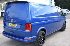 VOLKSWAGEN TRANSPORTER T30 T6.1 2021 LWB 150 BHP BLUE IDEAL CAMPER SPORTLINE STYLED HIGHLINE NOT T5 T6 - 2929 - 5