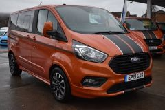 FORD TOURNEO CUSTOM 310 SPORT AUTOMATIC MINIBUS 8 SEATER ORANGE NO VAT TO PAY 170 BHP - 2110 - 8
