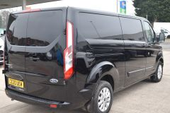 FORD TRANSIT CUSTOM 340 LIMITED 170 BHP BLACK LWB L2 TWIN SIDE DOORS NAV  ECOBLUE - 2879 - 6
