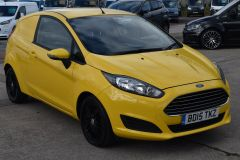 FORD FIESTA USED FIESTA YELLOW VAN ECONETIC TDCI 95 PS WITH AIR CON AND NO VAT TO PAY - 2184 - 1