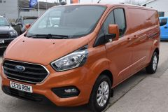 FORD TRANSIT CUSTOM 300 LIMITED 170 BHP L2 LWB TWIN SIDE DOORS NAV ORANGE VAN  ECOBLUE - 2875 - 1