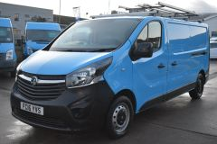 VAUXHALL VIVARO 2900 L2 H1 LWB BRITISH GASBLUE VAN TWIN SIDE DOORS SHELVING - 2764 - 1