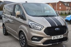 FORD TOURNEO CUSTOM 320 SPORT ECOBLUE DIFFUSED SILVER RARE NO VAT 8 SEATER AUTOMATIC 185 BHP  - 2843 - 7